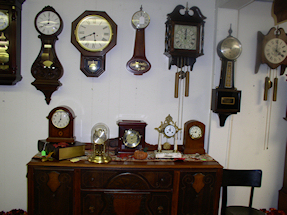 Turnersville Shop Wall and Mantel Clocks