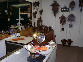 Turnersville Shop Cuckoo Clocks and Work Area