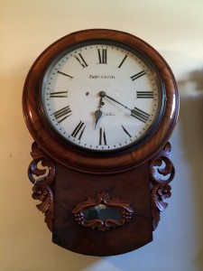 English Fusee Pub Clock for Sale