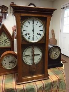 Ithaca Calendar Clock Company Double-Dial Calendar Clock