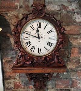 1880 English Fusee Wall Clock