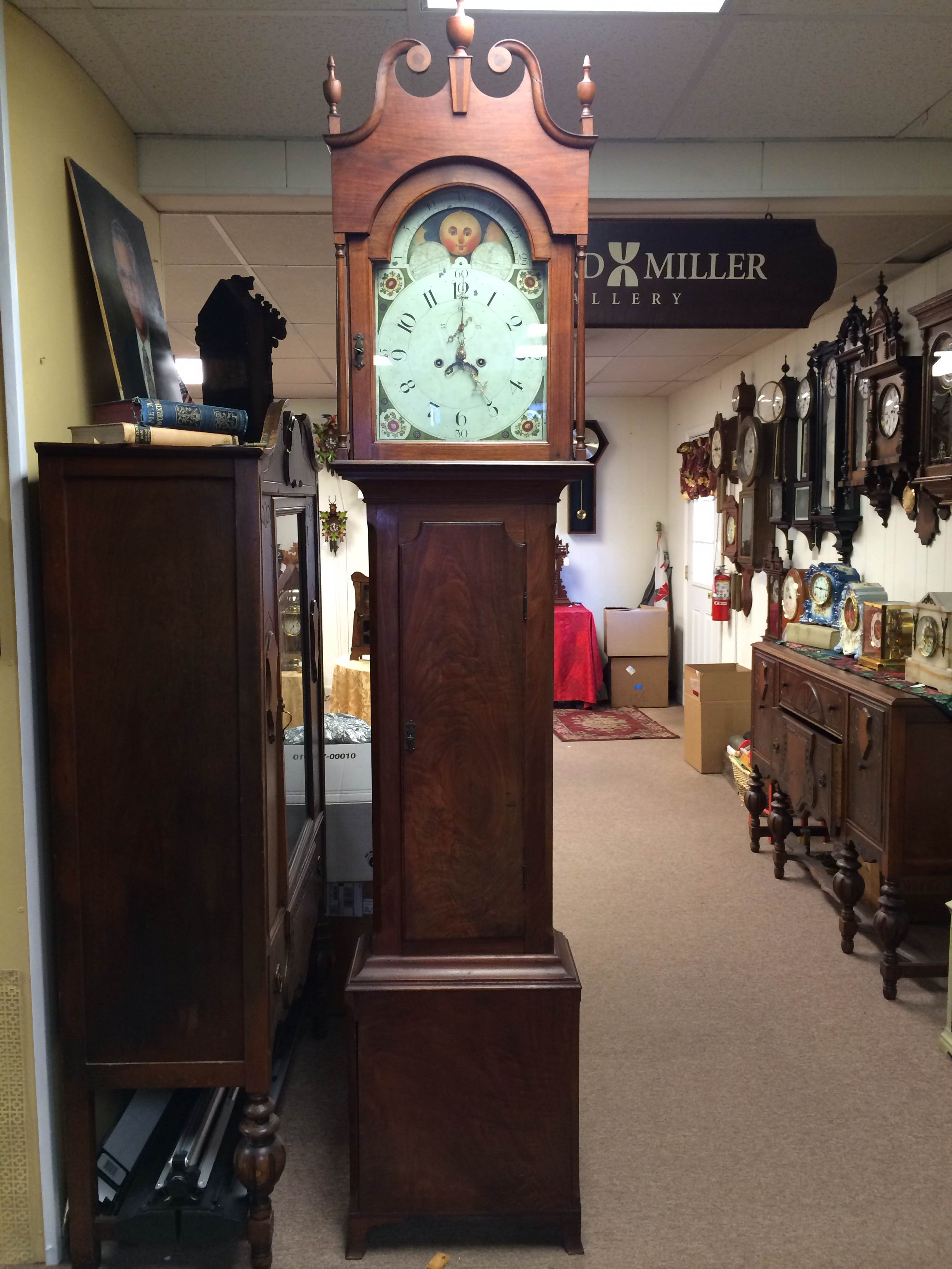 Rare Jersey Tall Case Clock for Sale