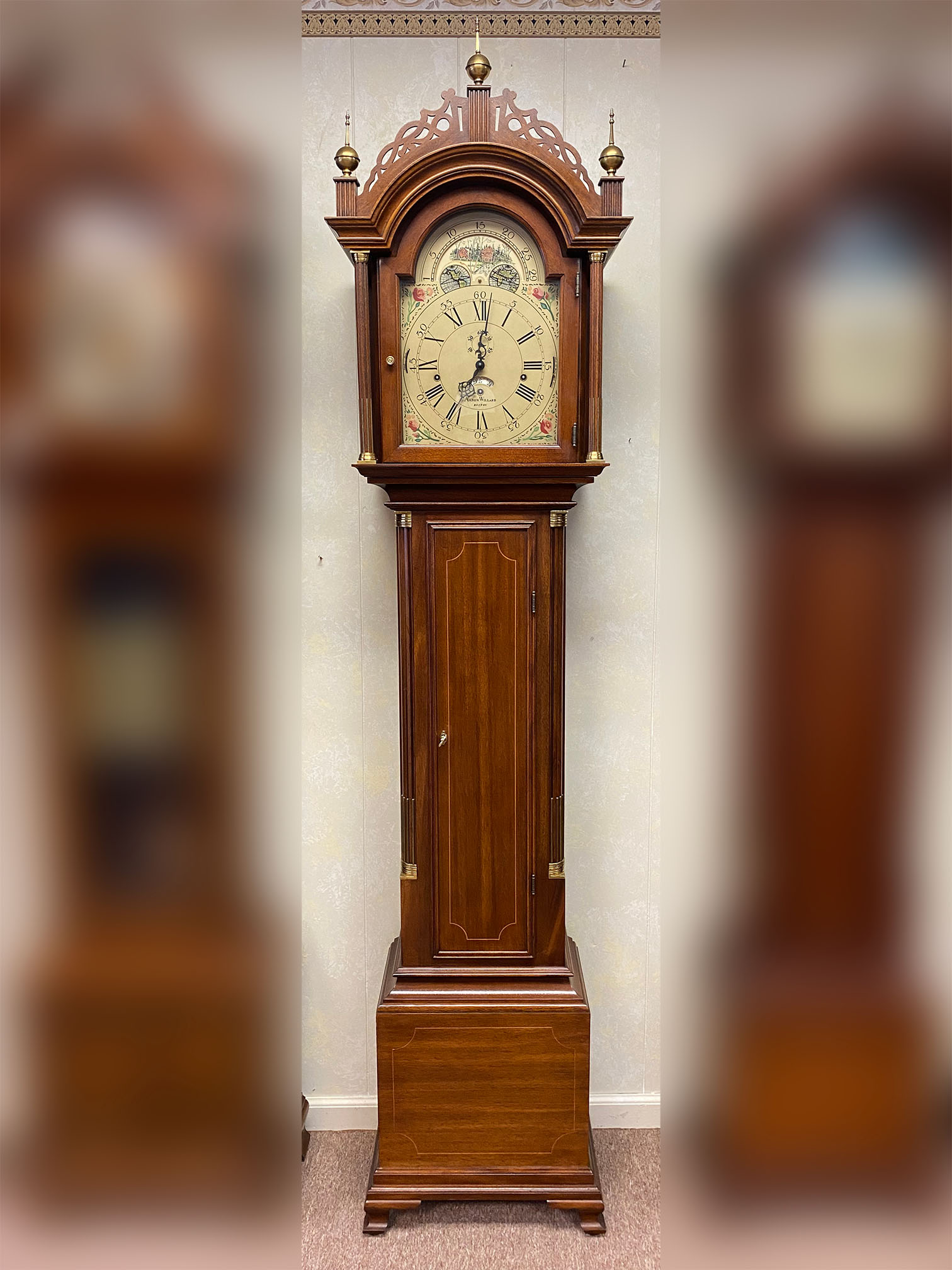 Sligh Aaron Willard Tall Case Clock