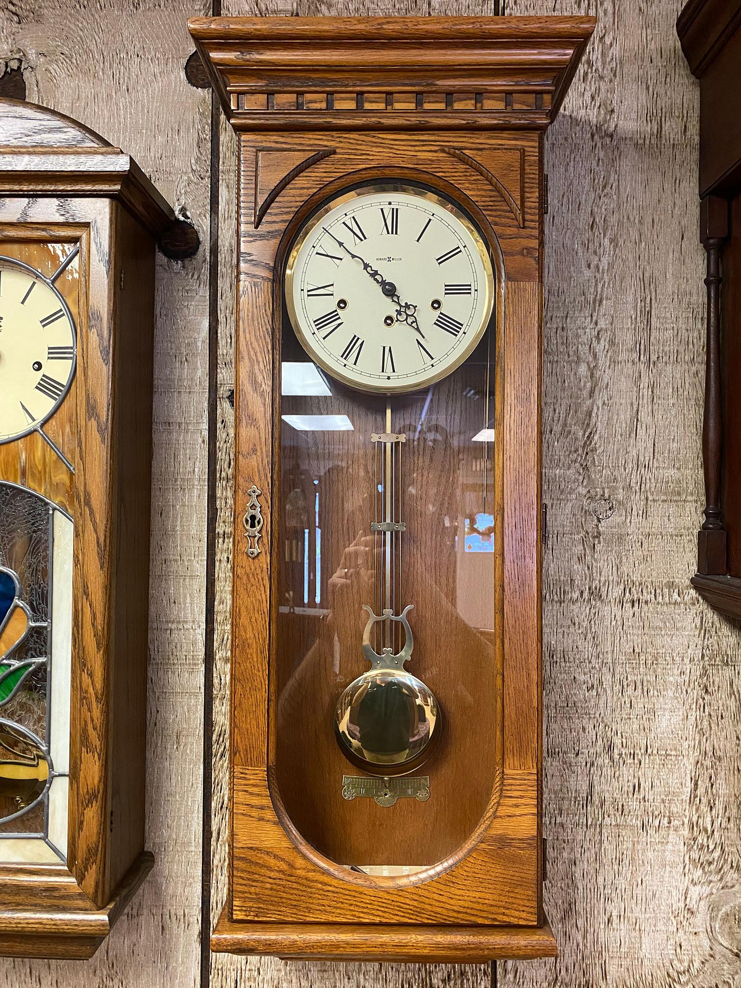 Howard Miller Oak Wall Clock