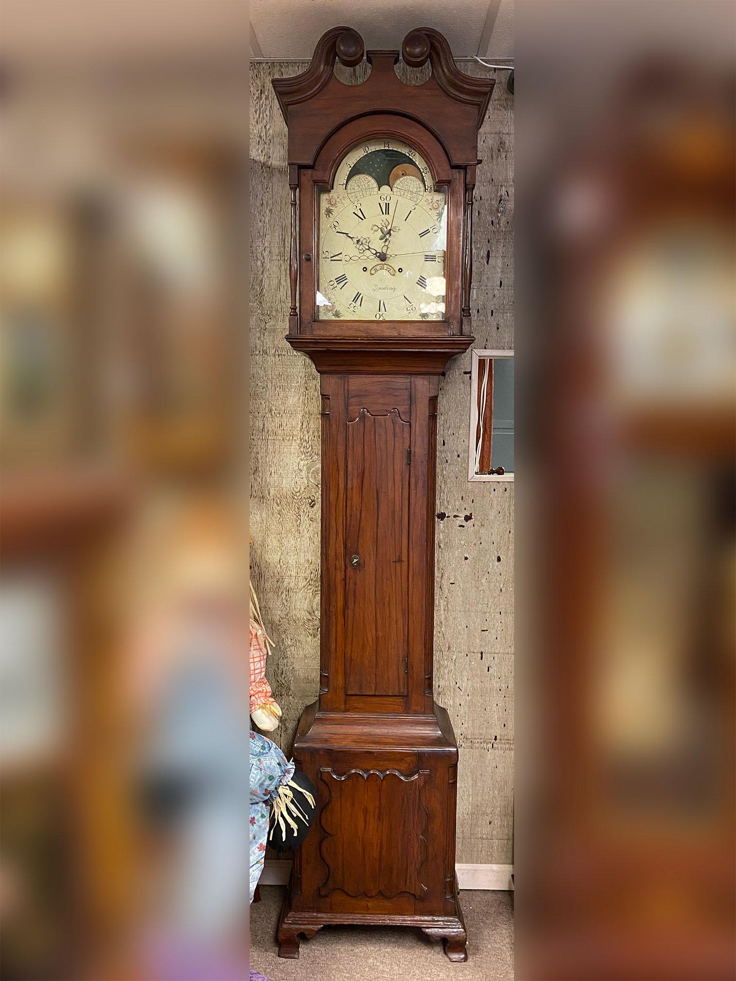 Reading Pennsylvania Tall Case Clock