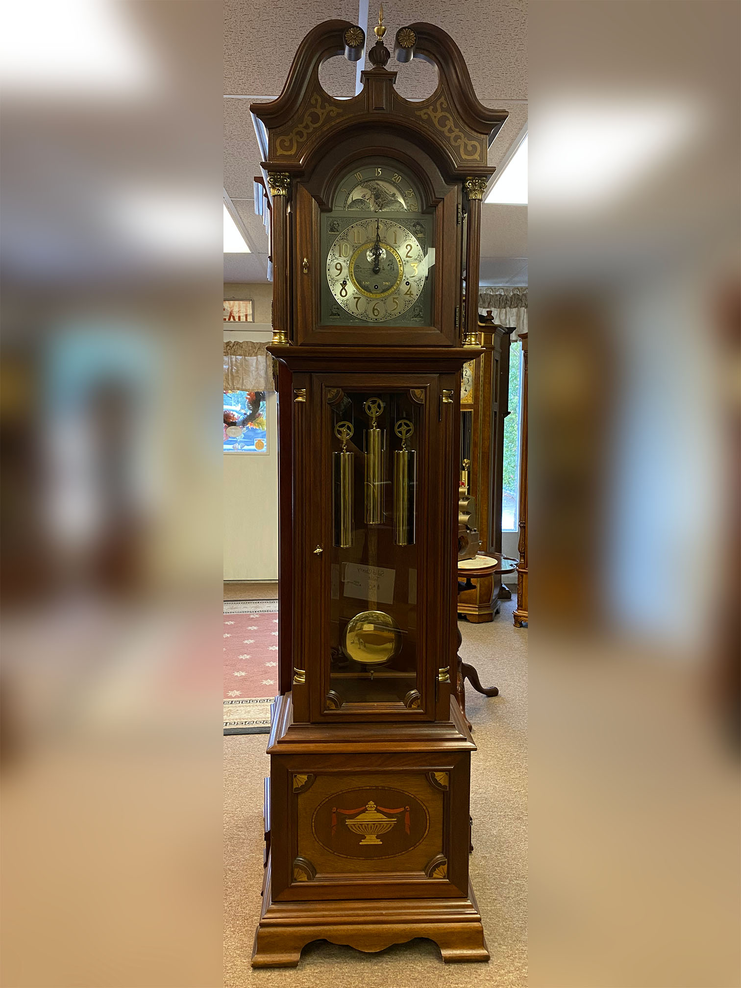 Ridgeway Victory at Yorktown Grandfather Clock
