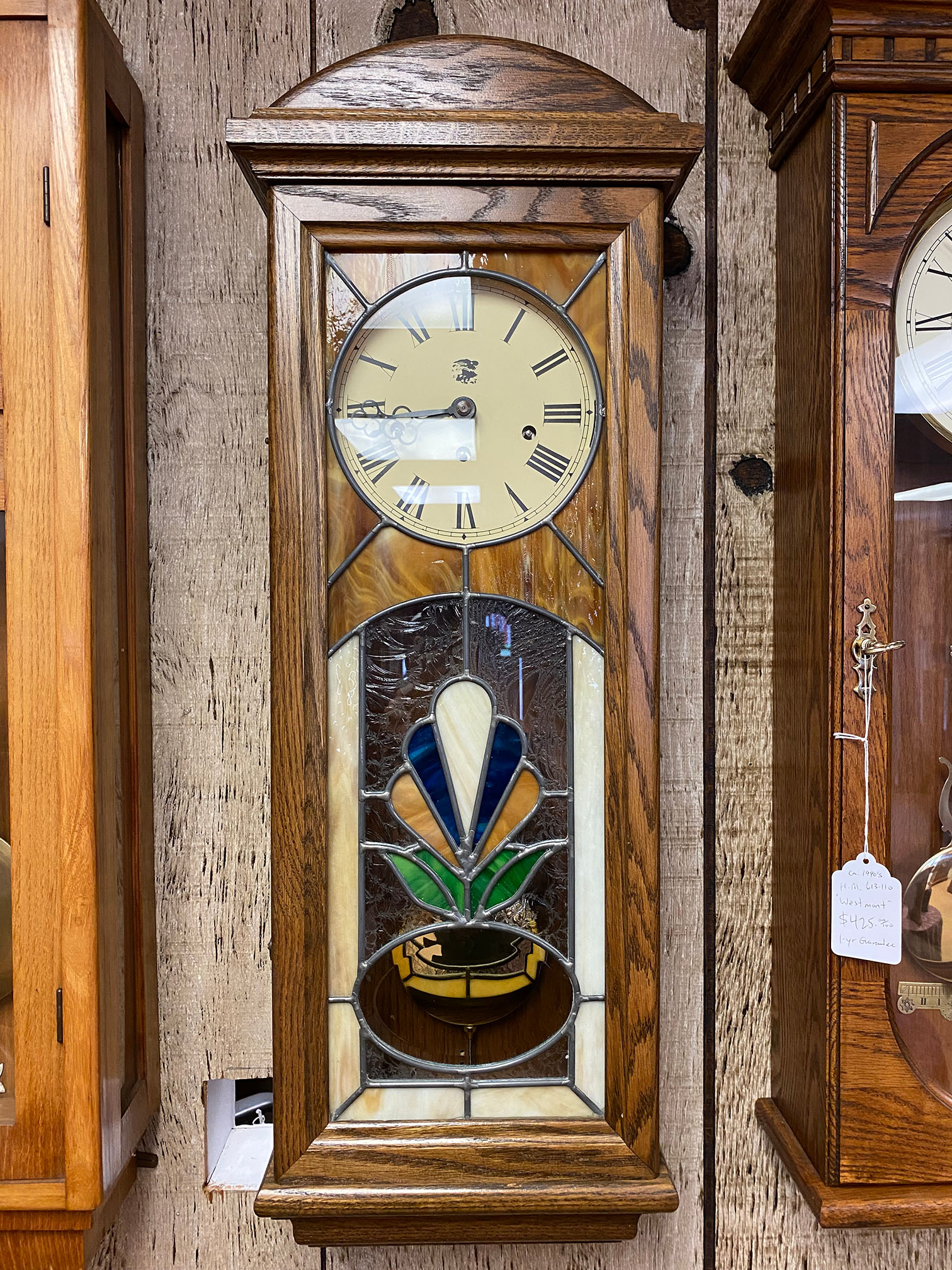 San Fransisco Stained Glass Wall Clock