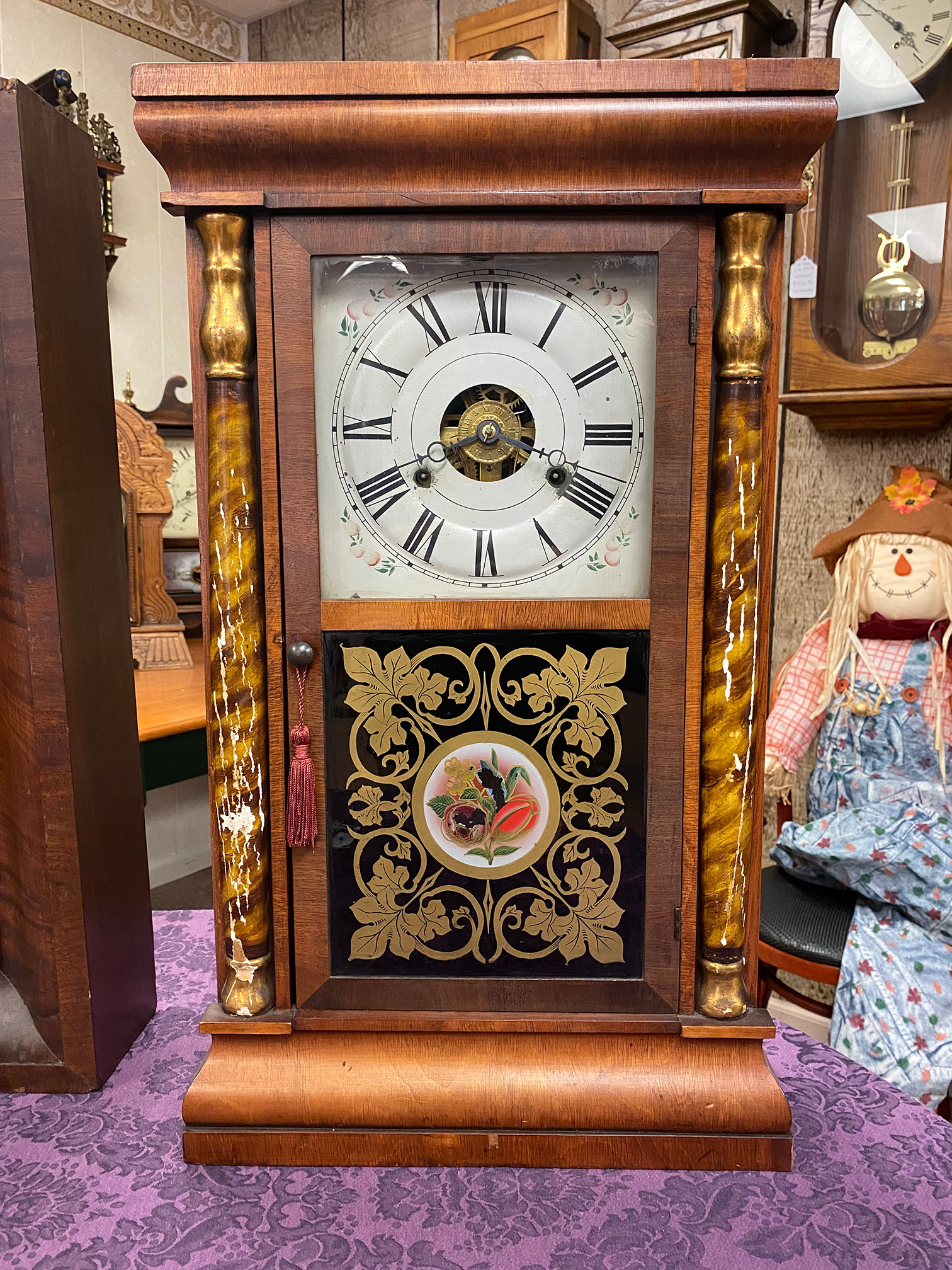 Seth Thomas Weight-Driven Shelf Clock